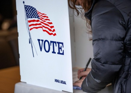 Voters at Polling Place (IMAGE)