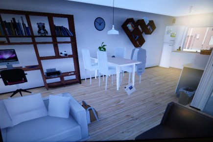 Interior of Virtual Reality House Built for the Burglars to Steal From (IMAGE)